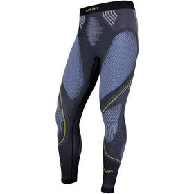 UYN Evolutyon Melange UW Long Pants Men Anthracite Melange/Blue/Yellow Shiny